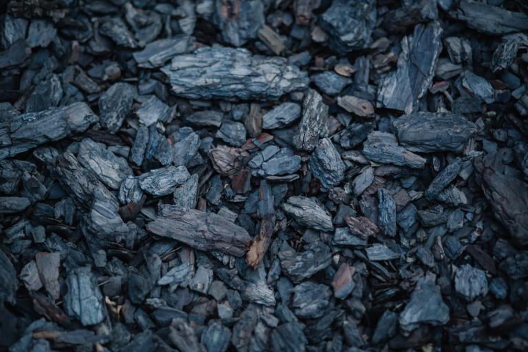 coal in a pile